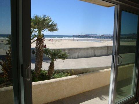 Sliding glass door in living room~opens up to the beach! - Step Out Your Front Door & Onto the Pismo Sand! - Pismo Beach - rentals
