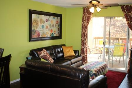 Living Room area has hide a bed - 2 Bed 2 Bath by Silver Dollar City - Branson - rentals