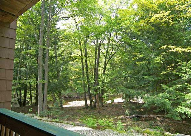 River view from the back deck - Deer Park 255 - Professionally Managed by Loon Reservation Service - North Woodstock - rentals