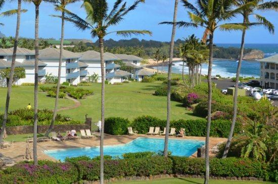 view - Free Car with Poipu Sands 122 Ocean View two bedroom on the beautiful Poipu greenbelt - Poipu - rentals