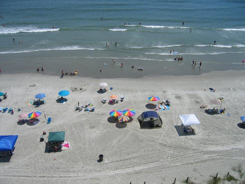 View of beach - Ocean Front, 4 Bedroom Condo on Cherry Grove Beach - North Myrtle Beach - rentals