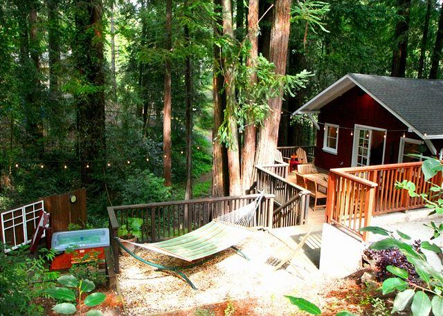 """Welcome Home to the Little Red House Plus!! - """"The Little Red House Plus!""""Hot Tub! 5 mins to Golf Course! Brand NEW Rental! - Guerneville - rentals"""