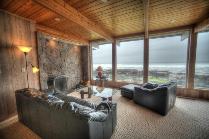 What a View! - Ocean Front Home with Panoramic Ocean View! - Yachats - rentals