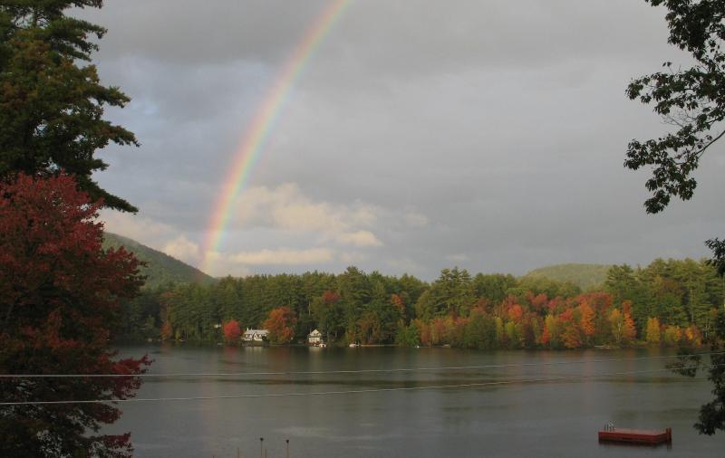 Rainbow over Forest Lake taken from our Deck - Beautiful Lake Side Getaway, Quiet, and Peaceful - Winchester - rentals