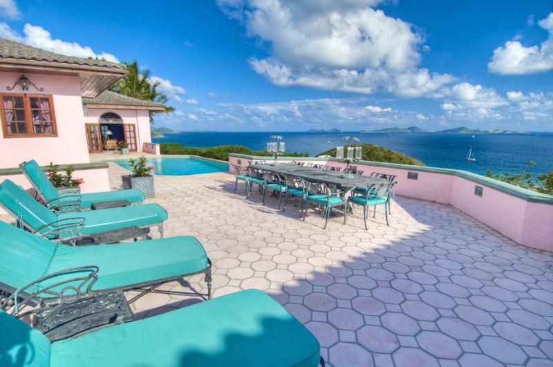 Rhumb House at Nora Hazel Point, Tortola - Ocean View, Koi Pond, Lush Atrium Garden - Image 1 - Tortola - rentals