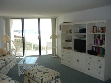 Open Living Area - Enjoy Beach views from this lovely and spacious condo ! - Marco Island - rentals