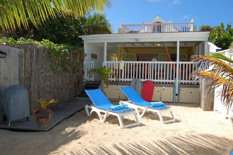 Face A La Mer at Grand Cul de Sac, St. Barth - On the Beach with Ocean Views - Image 1 - Grand Cul-de-Sac - rentals