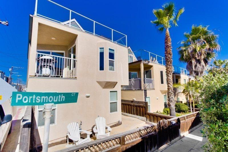 Located on the corner of Strandway and Portsmouth Court in Mission Beach - Nautical Beach House - Mission Beach Vacation Home - Pacific Beach - rentals