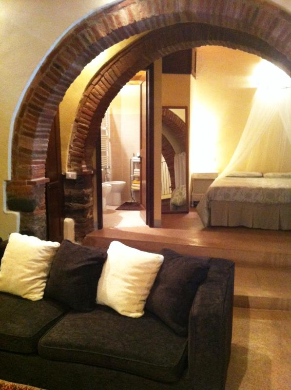 bedroom/loungeroom - Large Studio apartment in Historical Centre - WiFi - Castiglion Fiorentino - rentals