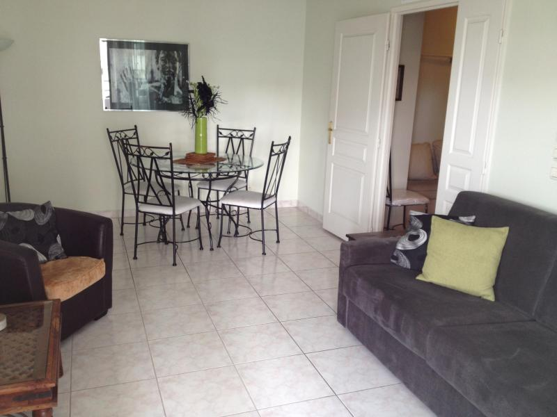 Living Area - Dining Table - Lovely Antibes Apartment with Balcony and Beautifully Furnished - Antibes - rentals