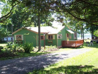 Sunnyshore Cottage - Looking toward Lake Canadarago - Cozy lakeview cottage close to Cooperstown, NY - Cooperstown - rentals