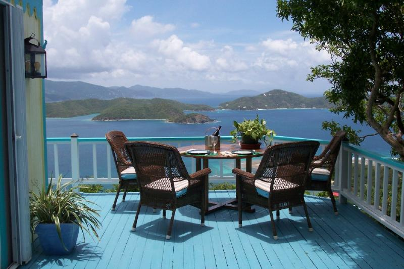 View from deck of Main House - Fair Winds - Spectacular View, Private - Coral Bay - rentals