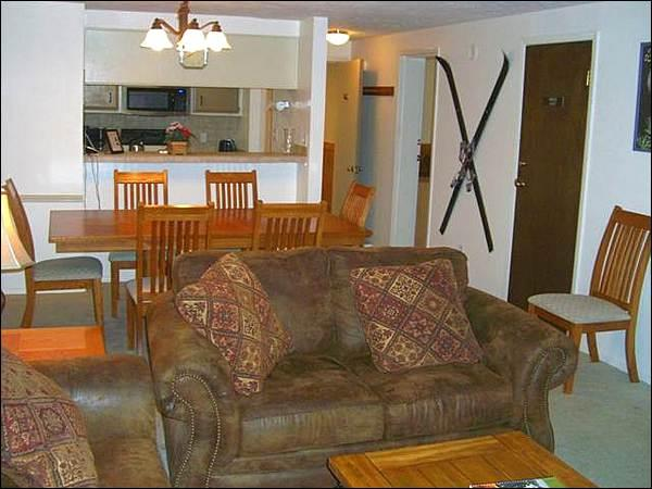 Living Room Includes a Fireplace and Opens to the Dining Area - Perfect Year-Round Getaway - Great for 2 Families (1247) - Crested Butte - rentals