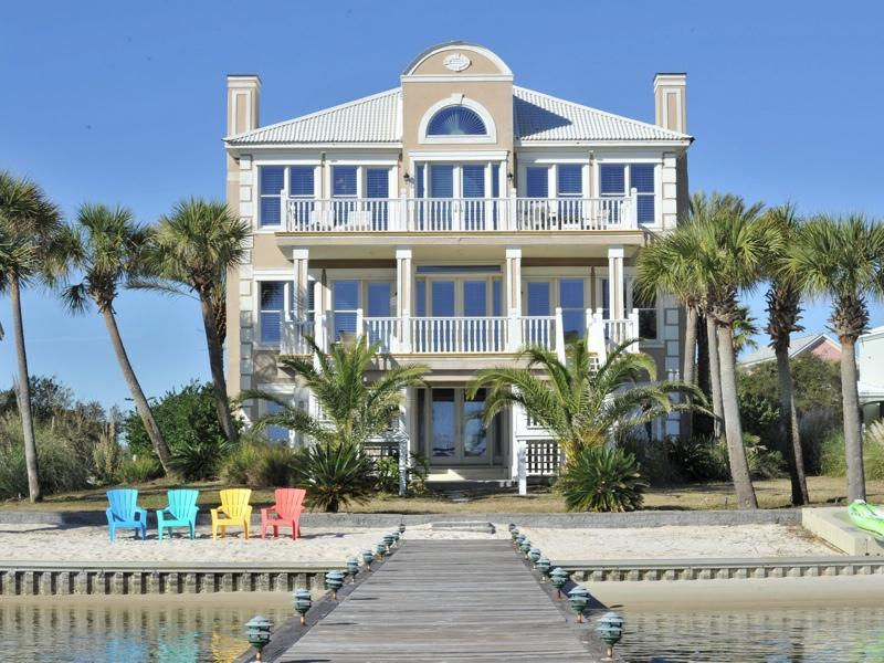 View of home standing on pier - Luxury Beach Home W/ Pool, Kayaks & Beach Chairs. Boaters Paradise! - Orange Beach - rentals