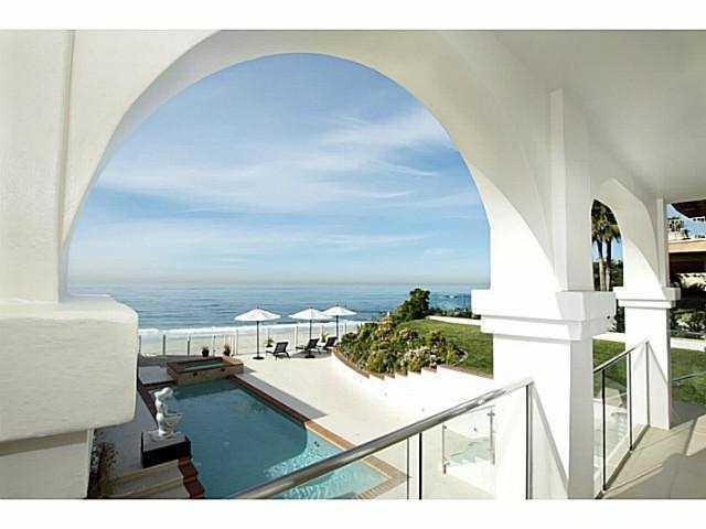 View from balcony - La Jolla Ocean Front Estate on the sand - Pacific Beach - rentals