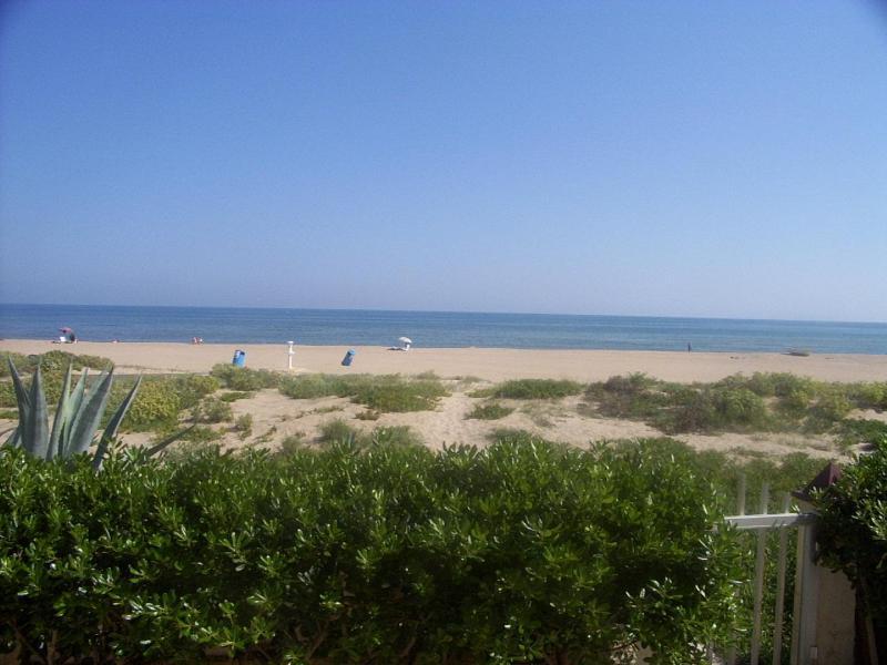 views from terrace - Front Line Beach Villa - Gandia - rentals