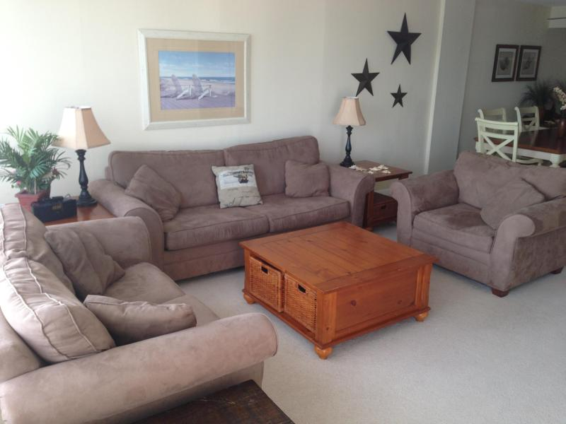 Living Room ( all pics are  Example only) - 2Bdr/2Bath Oceanfront Condo on the Boardwalk. Free - Virginia Beach - rentals