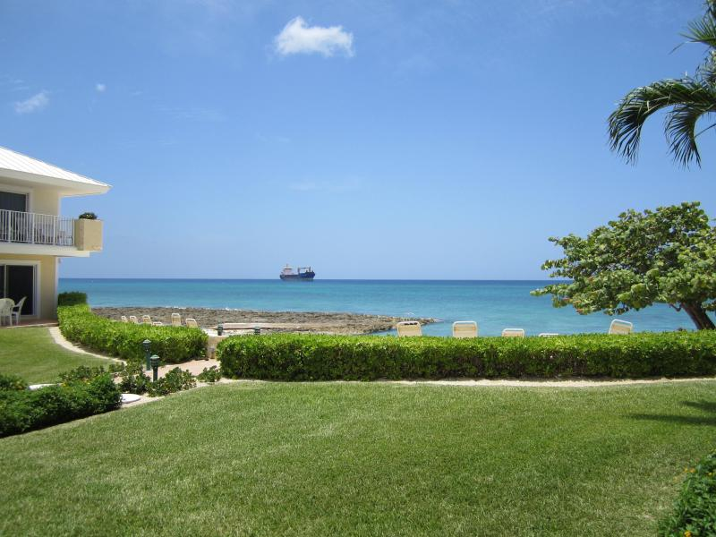View from Condo Patio - Beachfront Luxury Condo at a Great Price! - Grand Cayman - rentals