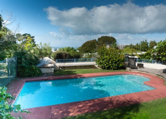 Outdoor swimming pool - Stylish holiday home in quiet and natural bush - Auckland - rentals