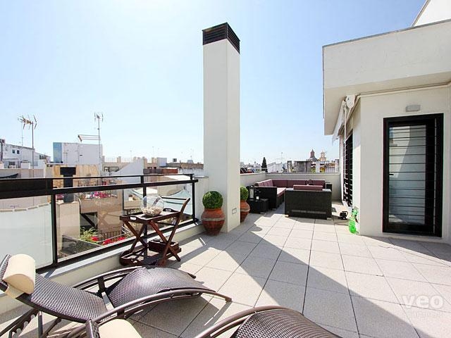 Apartment with a large private terrace. - Corral del Rey Terrace 1. 1-bedroom, large terrace - Seville - rentals