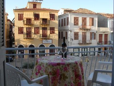 Balcony view - 2-bedroom apartment with balcony in old Nafplio - Nauplion - rentals