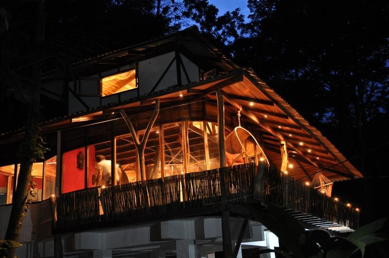 House by night - Designer Jungle House , Caribbean Coast Costa Rica - Manzanillo - rentals