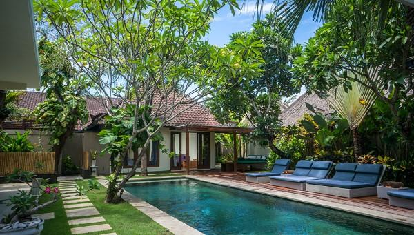 Pool garden area - Villa Staman quiet perfect 4 beach & restaurants - Seminyak - rentals