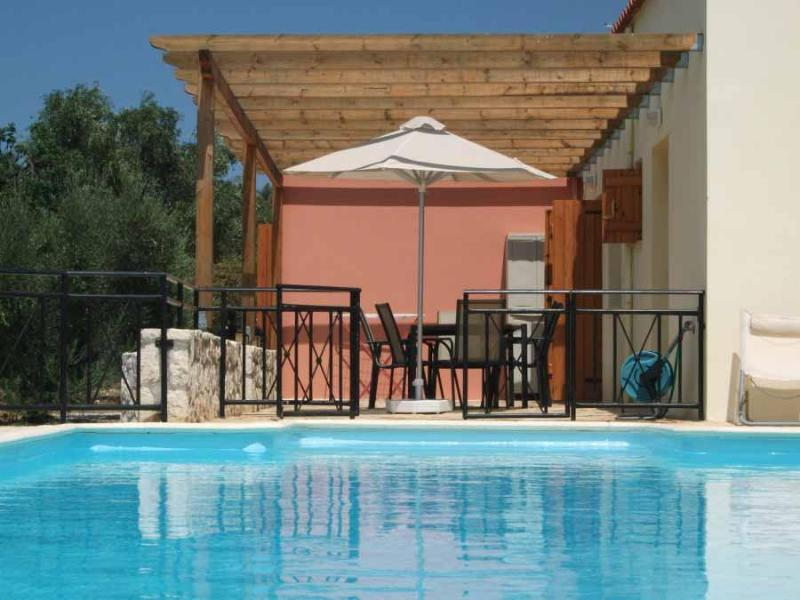 Villa Selene with child safety gates around the pool - Private villa with GATED POOL for child safety - Almyrida - rentals