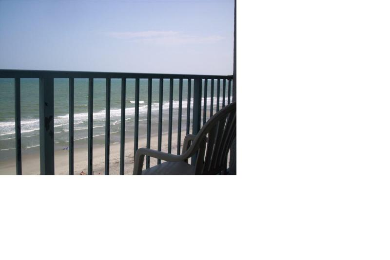 Balcony view - 2 Bed/2 Bath Ocean Front Condo - Myrtle Beach - rentals