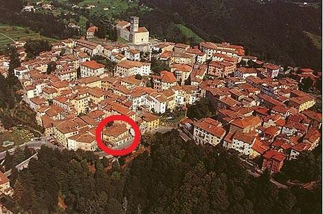 Aerial photo of house - Beautiful Vacation Rental at Casa Pierotti in Tuscany - Barga - rentals