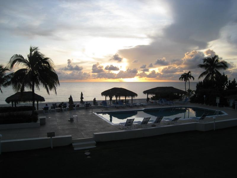 The view from our balcony - Christopher Columbus Condo #18, 3 brms, 2 baths - Seven Mile Beach - rentals