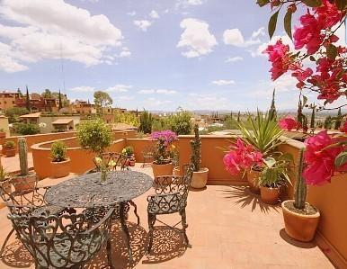 Time for morning coffee on the roof-top deck! - 4 BR Roof-Top Paradise, Scooter and ATV included! - San Miguel de Allende - rentals
