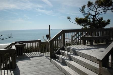 Ocean access & views from boardwalk - OCEAN GLEN Pine Knoll Shores Oceanside 3BRTownhome - Pine Knoll Shores - rentals