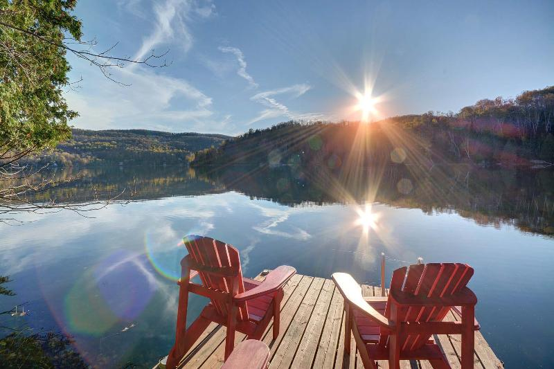 Waterfront - Spacious, secluded retreat  in Mont Tremblant - Mont Tremblant - rentals