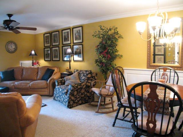 Dining/Living Area - Ocean Edge overlooks Putting Green with A/C & Pool (fees apply) - CH0099 - Brewster - rentals