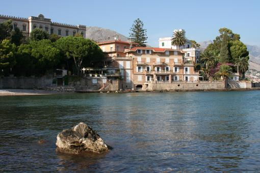 Villa Accetta from the sea - Terrace apartment in historic villa, private beach - Gaeta - rentals