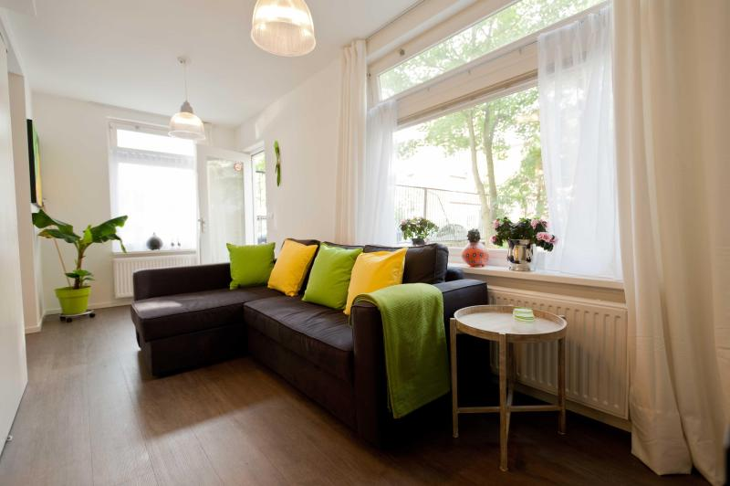 Living room with sleeping sofa (140x200) - 10minutes2center theme Brazil - Amsterdam - rentals
