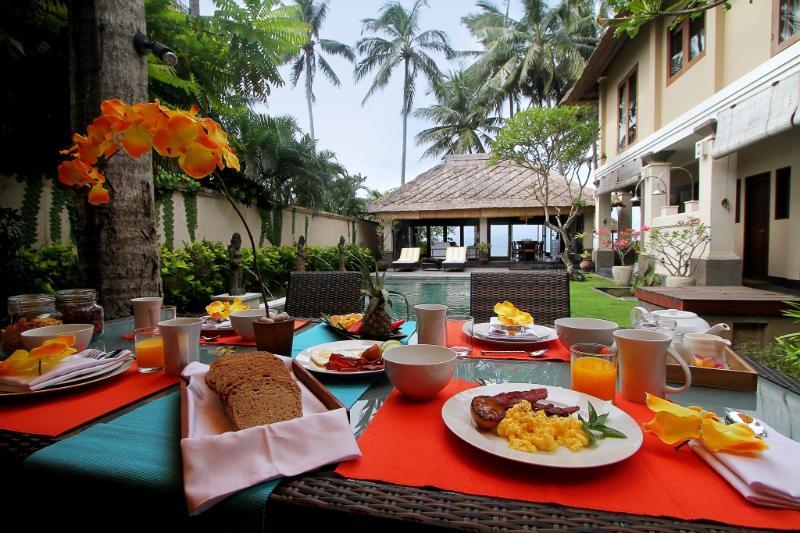 Full Breakfast Included - Anjani Villa - Great Beachfront  5 Bedroom Villa - Candidasa - rentals