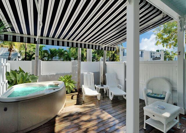 "Private Deck and Jacuzzi Area - ""HONEYMOON HIDEAWAY""  Romantic Getaway Spot For Two - Private Hot Tub - Key West - rentals"