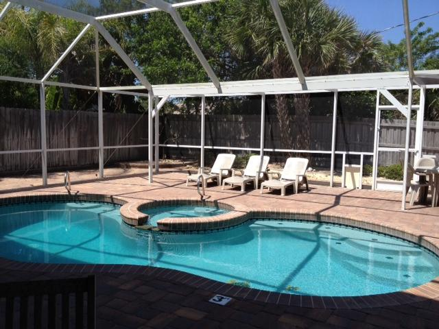 Poolside Living, just steps from the Beach - Large Beach House w/Oceanview, Private Heated Pool - Cocoa Beach - rentals