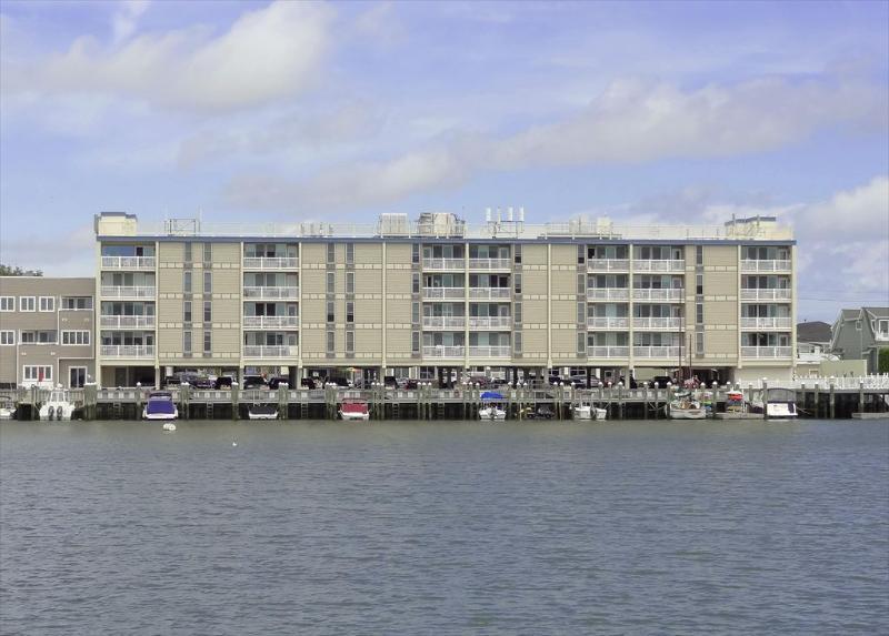 351 96th St. %35209  Stone Harbor NJ  Bay Side Rear Exterior View - 351 96th Street in Stone Harbor, NJ - ID 502357 - Stone Harbor - rentals