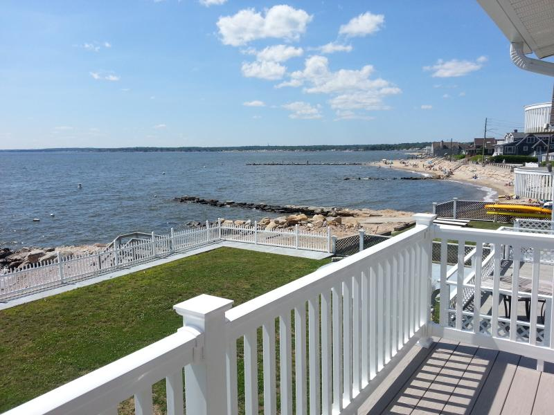 Upper Deck View - Cornfield Point Waterfront Beach House Vacation - Old Saybrook - rentals