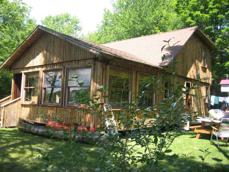 Front of Cabin - 4 Bedroom Lake Front Cabin in White Mts of NH - Piermont - rentals
