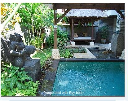 Lovely yard with pool, day bed - Gorgeous villa with pool, WiFi, private beach - Nusa Dua - rentals
