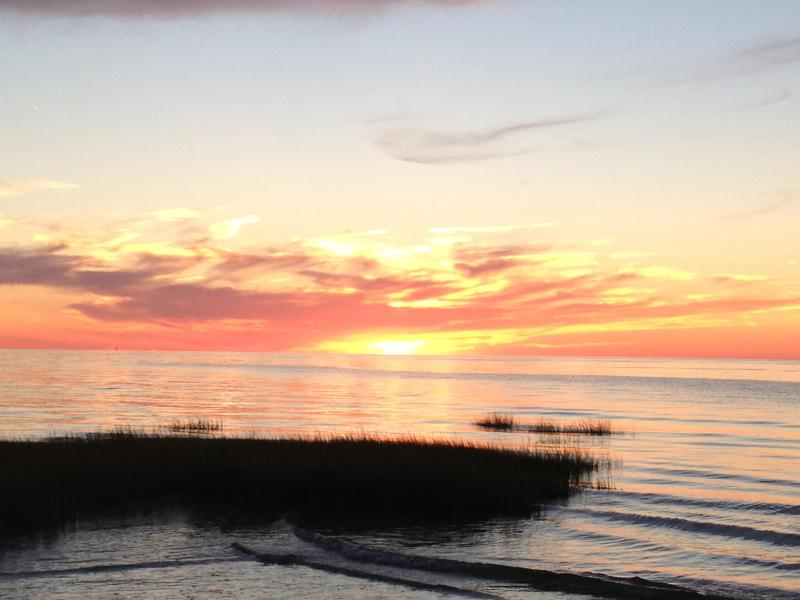 One of our many spectacular sunsets - Secluded Beach House only 650 feet to own beach - Orleans - rentals