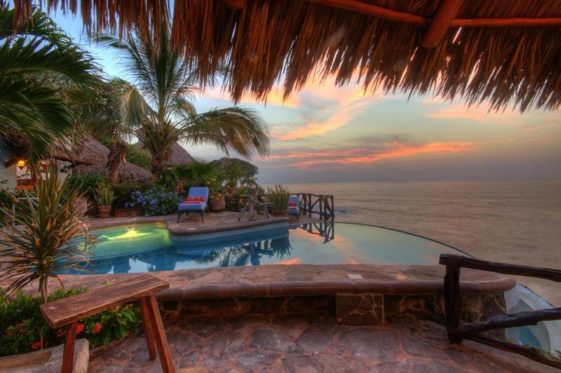 Casa Celeste, Mexican oceanfront 4 bedroom villa - Image 1 - Platanitos - rentals