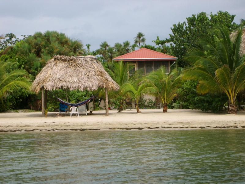 View of our house from the water - Caribbean Delights Colibri Beach House - Placencia - rentals