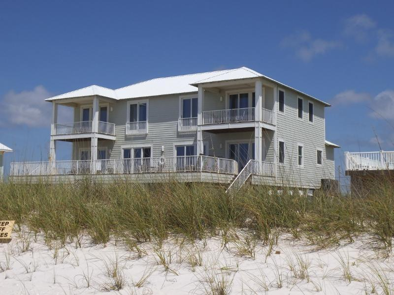 """Back of home, photo taking from beach - """"Crews Quarters"""" Luxury Gulf Front Home w/pvt pool - Gulf Shores - rentals"""