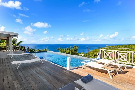 Elegant Avalon with lovely ocean sunset views, tranquil terrace with pool - Image 1 - Gouverneur - rentals