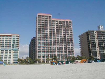 View from Beach - Family Friendly Ocean Front Condo with Gym, Sauna, and Jacuzzi - Myrtle Beach - rentals